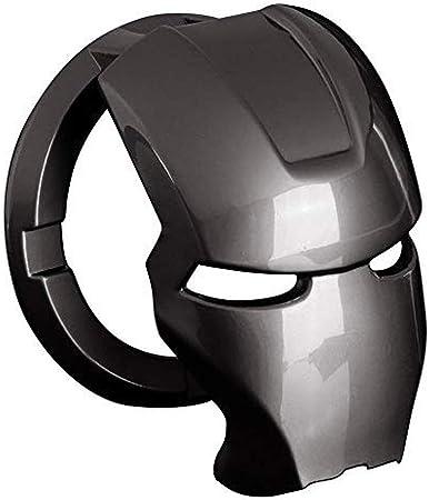 Iron Man 3d Anime Charakter Start Stopp Knopfabdeckung Aluminiumlegierung Schutzhülle Automatischer Startknopf Aufkleber Dekorativer Ring Diy Schwarz Auto