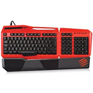 MAD CATZ s.t.r.i.k.e 3Gaming Teclado para PC–Rojo [Nordic Disposición]