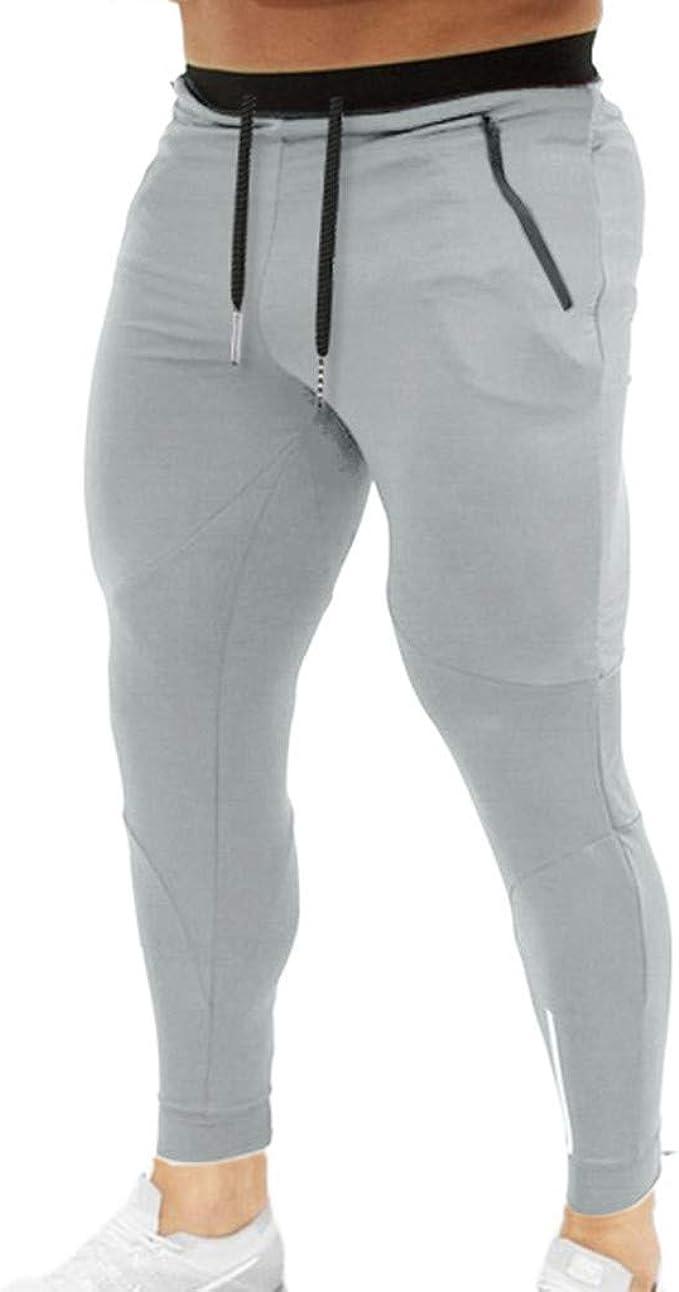 LuckyGirls Hombres Pantalones Elasticos Pitillo Ropa Deportiva ...