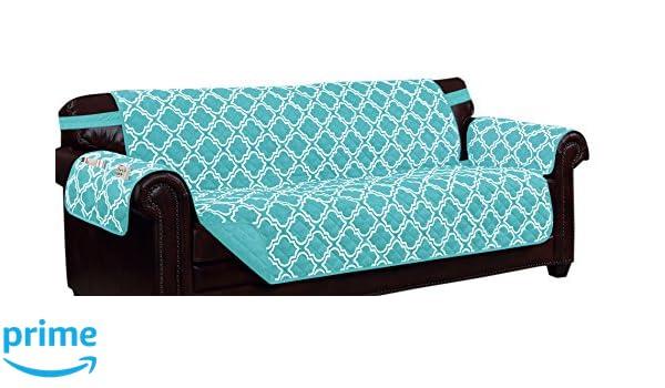 Peachy Amazon Com Kashi Home Aqua Print W Strap And 2 Side Pockets Theyellowbook Wood Chair Design Ideas Theyellowbookinfo