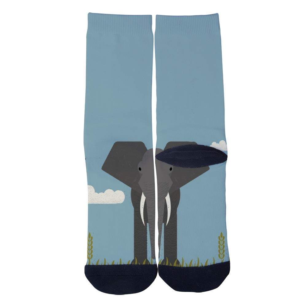Elephant Socks Mens Womens Personality Casual Socks Custom Sports Socks Creative Fashion Crew Socks