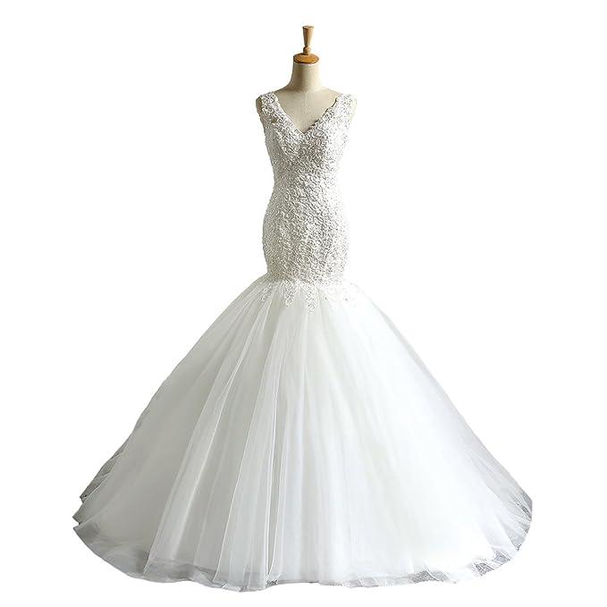 abwedding de la mujer sexy meraid vestidos de boda de tul sin espalda vestidos para boda