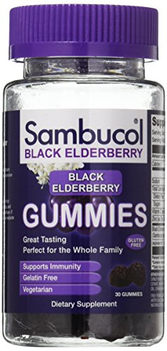 Sambucol Black Elderberry Gummies, 30 Count, High Antioxidant Black Elderberry Extract Gummies for Daily Immune Support, Gluten Free (Syrup Elderberry Sambucol)