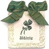 Sláinte Irish Good Health Ribbon Tile