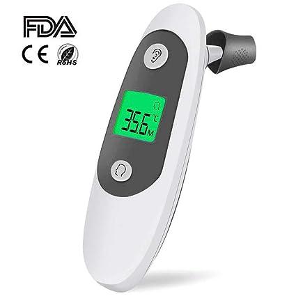 Top-Vigor Termómetro de oreja y frente, Senweit Termómetro digital infrarrojo de precisión profesional