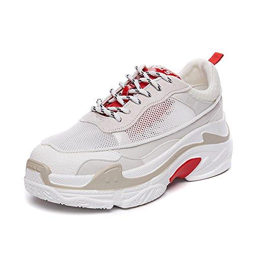 red De Deportivo Zapatos Que Grueso Femenino Femeninos Aire Con Fondo White Zapatos Red De Calzado NGRDX Transpirable amp;G 1qFxTwS