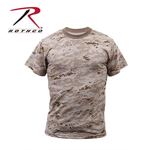 Rothco T-Shirt, Desert Digital Camo, Large