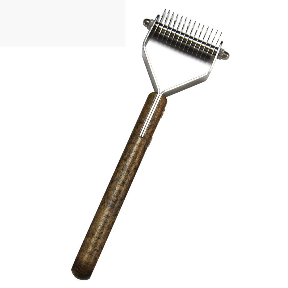 ZXHHL Pet Comb Wooden Handle Shit Natural Walnut Open Knot Hair Removal Comb