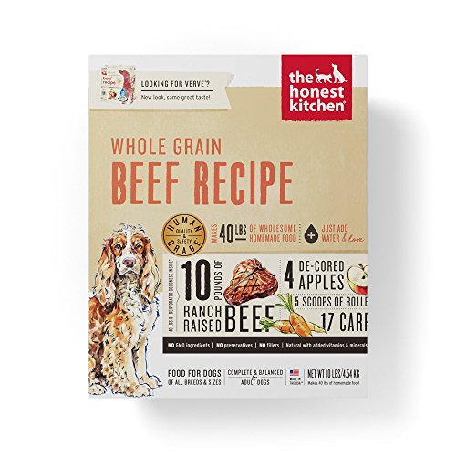 The Honest Kitchen Whole Grain Beef Dog Food Recipe, 4lb box