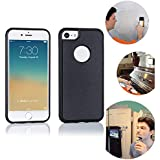 Wingcases for iPhone 7/8/SE 2020 Case, Anti Gravity Suction Stick on The Smooth Surface Mirror Glass Selfie Cover with…