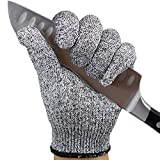 Kaimei Food Grade ISO9001 Cut-Resistant Gloves 5 Level Protection High Wear-Resistant Safety Soft for Hand Protection Kitchen Slaughterhouse Glass Processing and Other 2 Pair (Large)
