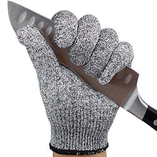Food Grade ISO9001 Cut-resistant Gloves 5 Level Protection High Wear-resistant Safety Soft for Hand Protection Kitchen Slaughterhouse Glass Processing and Other 2 Pair (Extra Large) by Kaimei