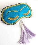 Handmade Breakfast at Tiffany's Eyelashes Sleep Mask Tassel Earrings Set Bachelorette Party Mask.