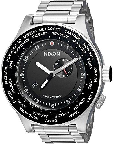 nixon-mens-a379000-00-passport-ss-analog-display-japanese-quartz-silver-watch