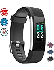 wowgo Fitness Tracker, Color Screen Activity Tracker Heart Rate Monitor Watch IP68 Waterproof Smart Bracelet Pedometer with Step Counter 14 Sport Modes for Android IOS
