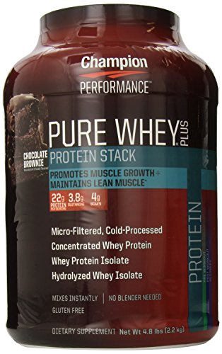 Performance Champion Pure Whey plus les suppléments, Chocolate Brownie, 4,8 Pound