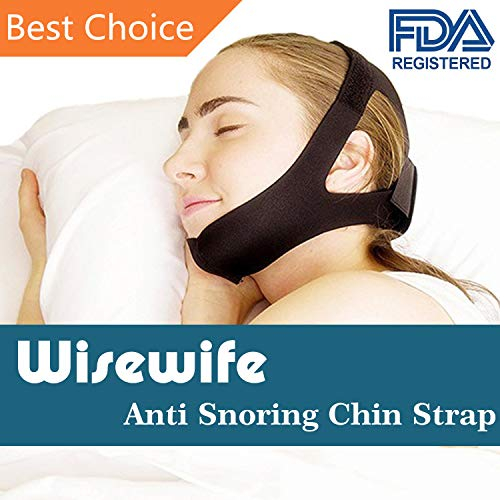 Anti Snoring Chin Strap - The Premium Bedtime Anti Snore Aid - Stop Snoring Device - A Safe Simple Effective Sleep Aid - Adjustable Belt for Men, Women, Kids