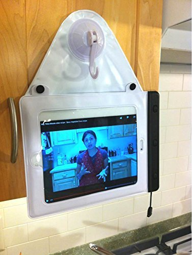 newest collection ddbfc f89ad Splashtablet Suction-Mount Waterproof Ipad Case for Shower and Bath