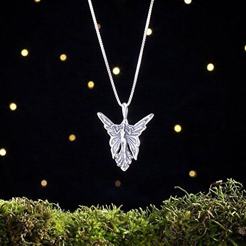 Art Nouveau Fairies (Sterling Silver Art Nouveau Butterfly Fairy - (Pendant or Necklace))