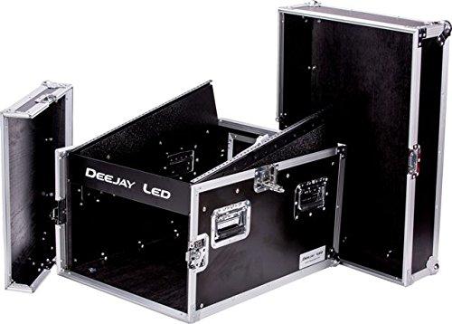 DEEJAY LED TBH Flight CASE 14U Slant Mixer 6U Vertical Rack System with Full AC Door (TBH14M6U) by Deejay LED