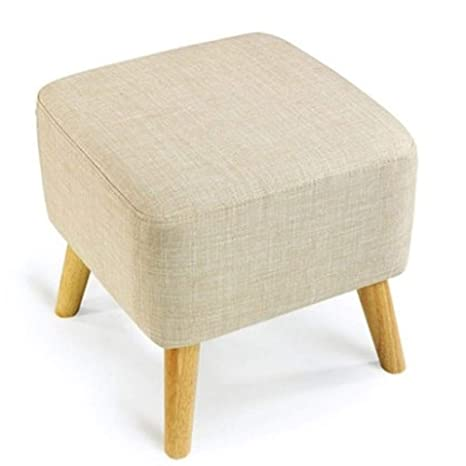 Magnificent Amazon Com Yingying Ottoman Square Solid Wood Footstool Spiritservingveterans Wood Chair Design Ideas Spiritservingveteransorg