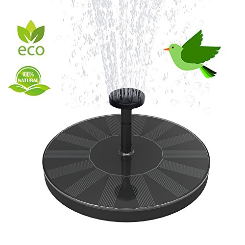 Skywee Upgraded Solar Fountains, Solar Powered Fountain Pump, 1.5W