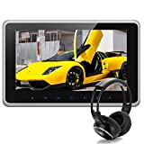 10.1 Inch 1024*600 HD TFT LCD Wide Digital Screen Ultra-thin Car Headrest DVD Player Multimedia Player Raspberry Pi Monitor with HDMI Port and IR Headphone and Remote Control