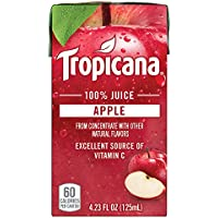 44-Count Tropicana 4.23oz 100% Apple Juice Box