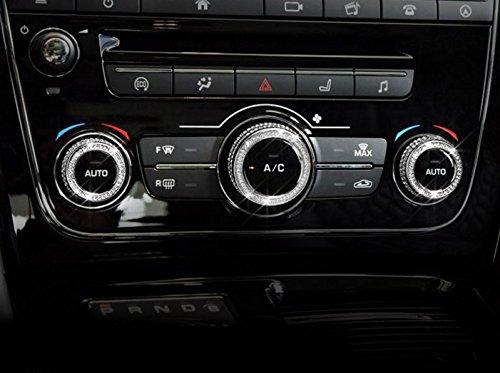 Eppar New Air Condition Control Button Decorative Cover for Jaguar XJ 2012-2016 (Silver) by Eppar