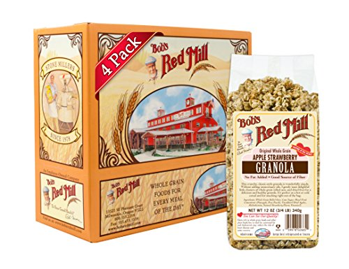 Bobs Red Mill Apple Strawberry Granola, 12-ounce (Pack of 4)