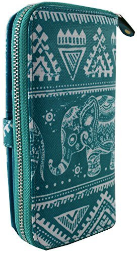 Grande Della Gufo Pochette Portafoglio Kukubird Modello Green Borsa Ladies 88c Mint Tribal Cuore w6B8Iqp