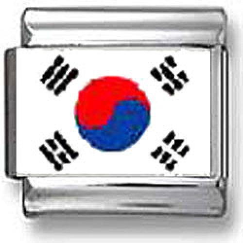 South Korean Flag Italian charm by CharmsLand