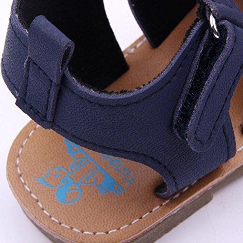 Huhu833 Baby Schuhe, Baby Jungen Sandelholz Kleinkind scheuert Erste Wanderer Kind Schuhe Navy