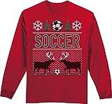 51wCJbd YzL. SL160  - Soccer T-Shirt: Ugly Christmas Sweater Long Sleeve Soccer T-Shirt