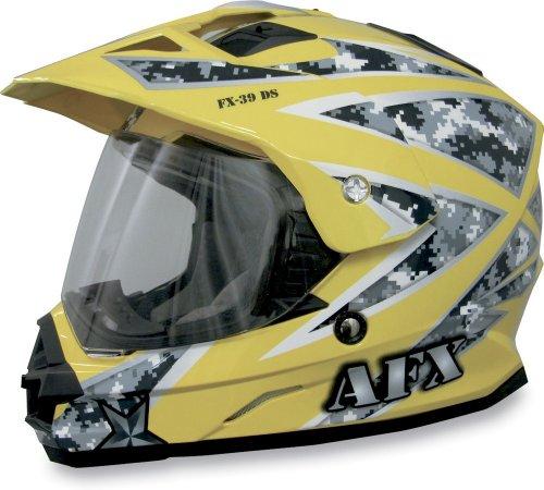 AFX FX-39DS Dual Sport Urban Full-face Street Helmet Yellow XS