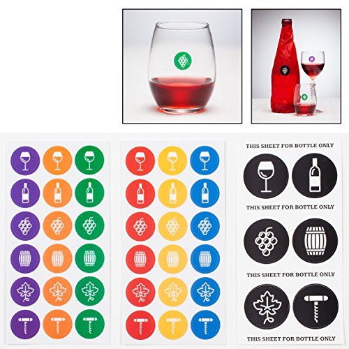 Wine Sticker Tastings Parties stemless product image