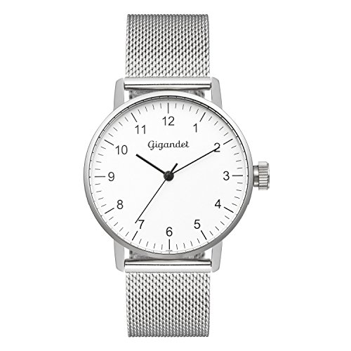 Gigandet Women's Quartz Watch Minimalism Analog Stainless Steel Bracelet silver G27-005