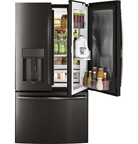 GE Profile PYD22KBLTS 36 Inch Counter Depth French Door Refr