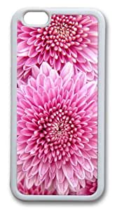 Chrysanthemum Flowers TPU Silicone Case Cover for iphone 6 plus 5.5 inch White