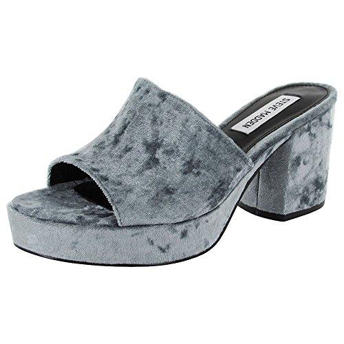 Steve Madden Womens Relax Platform Sandal Shoes, Blue Velvet, US (Velvet Platform Sandals)