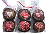 Chocolate Dipped Oreo Cookies Hearts for Valentine's and Mother's Day 4 packs of 2 Oreos