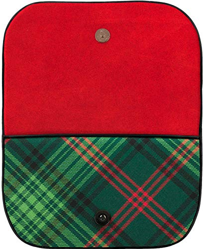 Pocket Ross Bag Leather Inside Back With With and Large Tartan Clutch q4vwxT