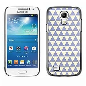 TopCaseStore / la caja del caucho duro de la cubierta de protección de la piel - Clean Blue Beige - Samsung Galaxy S4 Mini i9190 MINI VERSION!