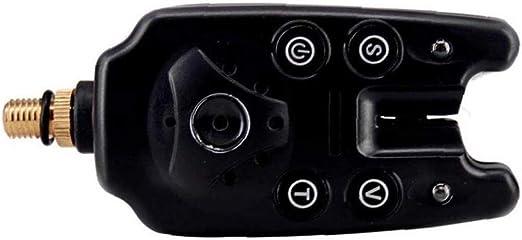 Angeln Bissanzeiger Blau Led-fischen-indikator Wasserdicht-ton-Alarm F/ür Angel Schwarz Batterie Nicht Eingeschlossen 1pc