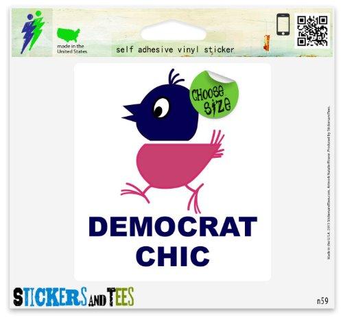 - Democrat Chick Car Sticker Indoor Outdoor 5
