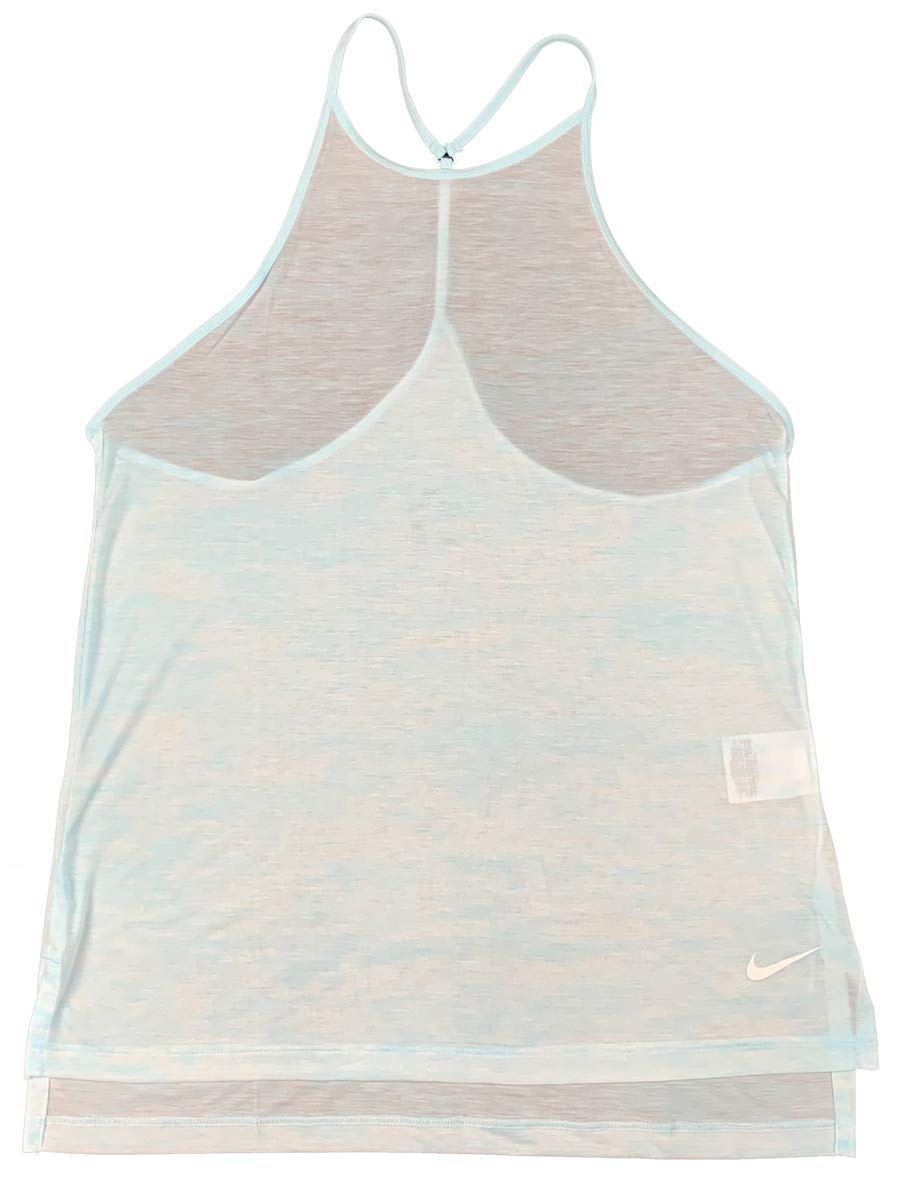 Nike Womens Dri-Fit Breather Lightweight Loose Tank Top Shirt (X-Small, Blue)