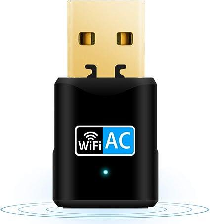 Aigital Adaptador WiFi USB, 600Mbps Driver Free Receptor WiFi ...