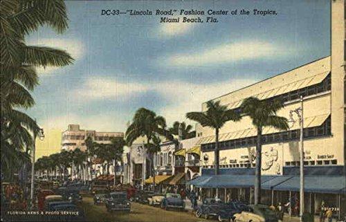 Lincoln Road, Fashion Center of the Tropics Miami Beach, Florida Original Vintage ()