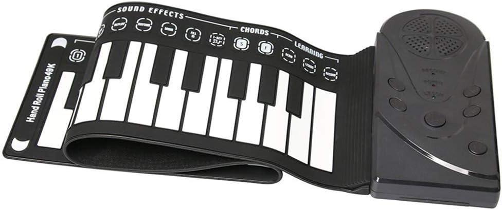 NINI Roll Up Piano portátil de 49 Teclas electrónica Flexible ...