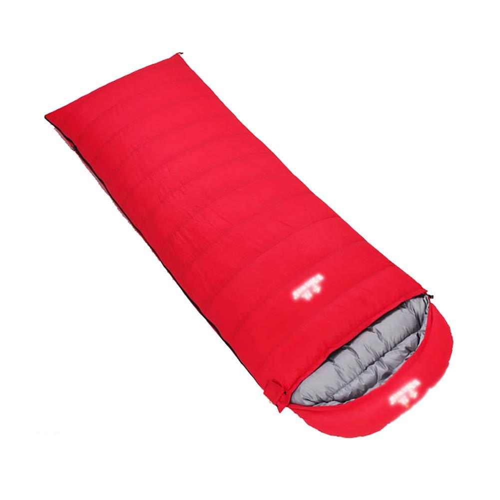 YYSD Entendaunen-Schlafsack, kampierender Warmer Schlafsack mit Vier Jahreszeiten im Freien, kann Gesponnener beweglicher feuchtigkeitsgeschützter Wasserdichter einzelner Schlafsack gepasst Werden